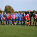 First Team & Mascots v Shanklin LFC Respect Handshake
