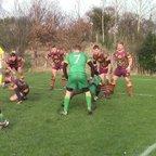 Joel Hawkyard try St Joes v Morley 07/02/15