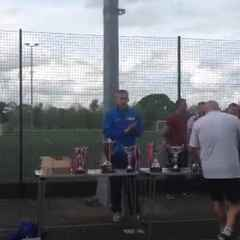 U16 PAN Disability squad receiving medals and trophy part 1