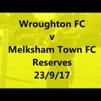 Wroughton v MTFC Reserves 23/9/17