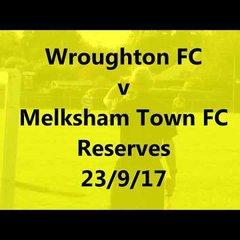 Wroughton v MTFC Reserves 23/9/17