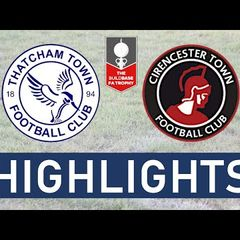 FA Trophy   Thatcham Town FC vs Cirencester Town FC   Highlights
