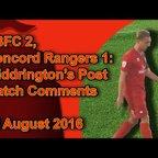EBFC 2, Concord Rangers 0: Widdrington's Post Match Comments