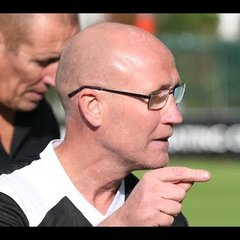 Bob Clements Head Coach of Lingfield FC Interview & MOM presentation with Richard Wetton