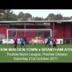 Saffron Walden Town v Brantham Athletic. Season 2017-18