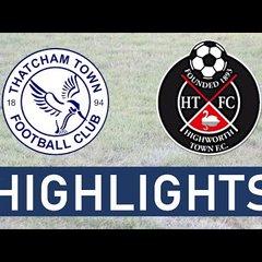 Thatcham Town FC vs Highworth Town FC | Highlights