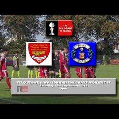 Felixstowe & Walton United V Grays Ath 29/9/18 FA Trophy