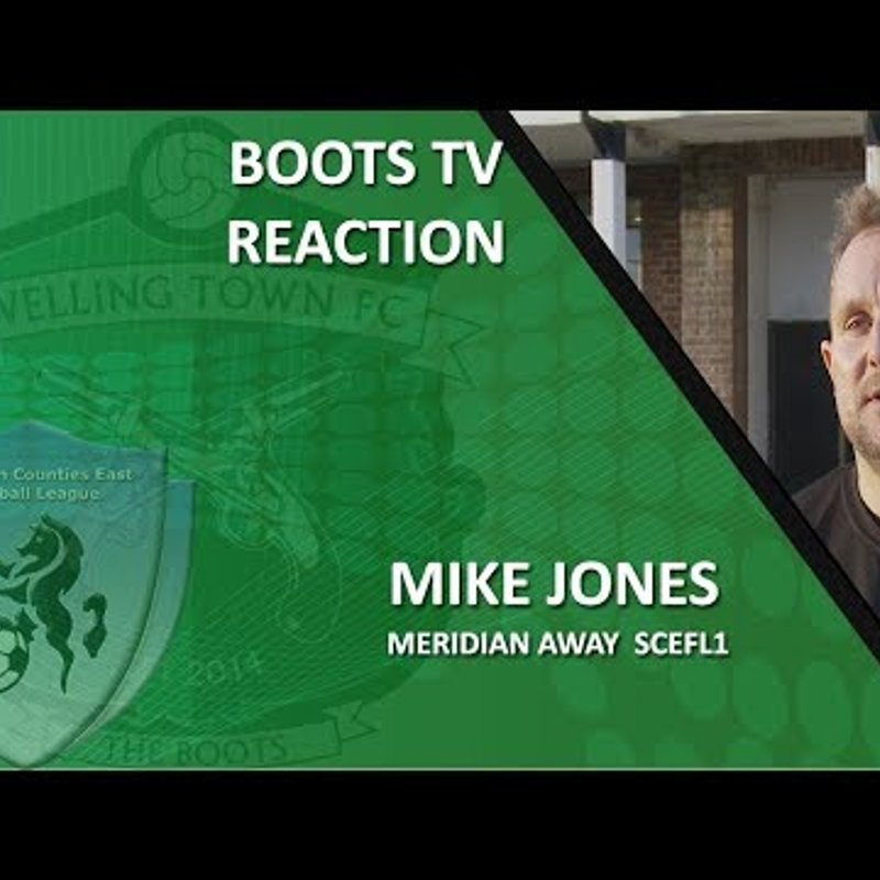 INTERVIEW - Assistant Manager Mike Jones after Meridian VP 1-1 Welling Town