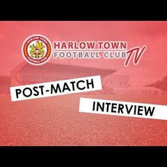 Harlow Town FC vs Wingate & Finchley post match interview - 16/03/19
