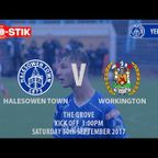 HIGHLIGHTS | Halesowen Town v Workington [30/09/2017]