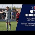 HIGHLIGHTS: Cirencester Town 2-2 Chippenham Town  | 2019/20 Emirates FA Cup