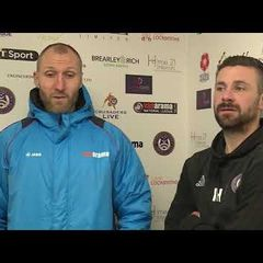 Co Managers talk about the win | Dartford FC | 09.12.2017
