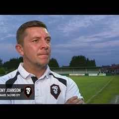 Irlam FC 0-4 Salford City - Anthony Johnson post-match interview