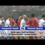 Haywards Heath Town vs Phoenix Sports - 24th November 2018