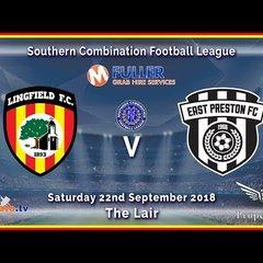 HIGHLIGHTS - Lingfield FC 5-0 East Preston FC - League - 22-09-2018