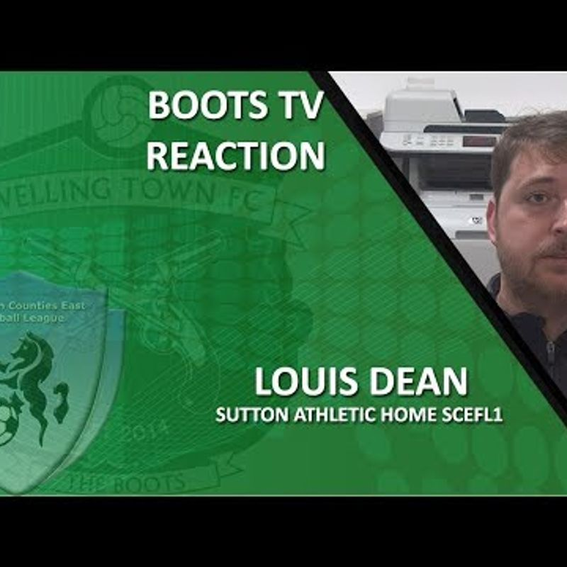 INTERVIEW - Louis Dean after his first game in charge - Welling Town 4-1 Sutton Athletic