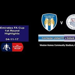 Colchester Utd v Oxford City - FA Cup 1st Round Highlights - 04-11-17