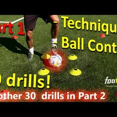Ball Mastery l Coerver Coaching & Fast Footwork Part 1 - 30 *GREAT* Football drills for Ball Control