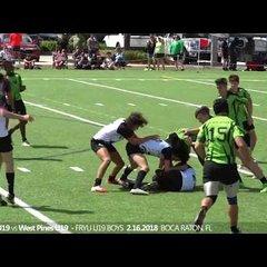 Okapi Wanderers Rugby FC U19  vs Wellington Wizards Rugby 02 24 2018