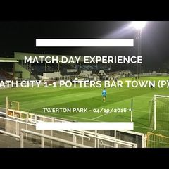 Groundhop at Twerton Park - Bath City vs. Potters Bar Town - Guys, we have a problem...
