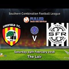 Lingfield FC v St Francis Rangers - League - 24-02-2018 - HIGHLIGHTS