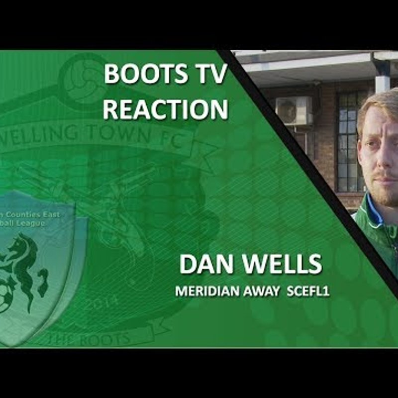 INTERVIEW - Centre Half Dan Wells after a goal and Meridian VP 1-1 Welling Town