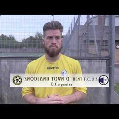 Snodland Town v KFU - Dean Carpenter Interview 24/9/16