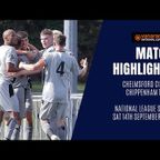 HIGHLIGHTS: Chelmsford City 3-3 Chippenham Town | 2019/20 National League South
