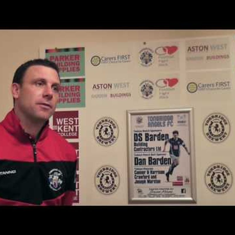 TONBRIDGE ANGELS VS HARLOW TOWN - Post match interview 25/03/2017