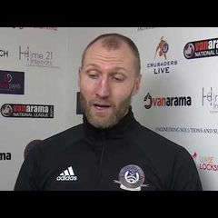 Manager talk to Crusaders Live | Bognor Regis Town | National League South | 27.01.18