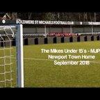Boldmere St Michaels Under 15's MJPL v's Newport Town