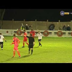 Elliot Bradbrook hits the post | Dartford FC | National League South