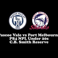 PVFCTV | Pascoe Vale v Port Melbourne | PS4 NPL Under 20s
