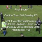 Carlton Town v Gresley FC - Match Highlights 26/09/2018
