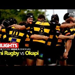 Okapi Wanderers Rugby FC Men vs Miami Rugby  Highlights 01 27 2018