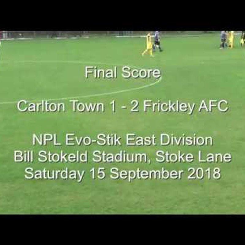 Carlton Town v Frickley AFC - Match Highlights 15/09/2018