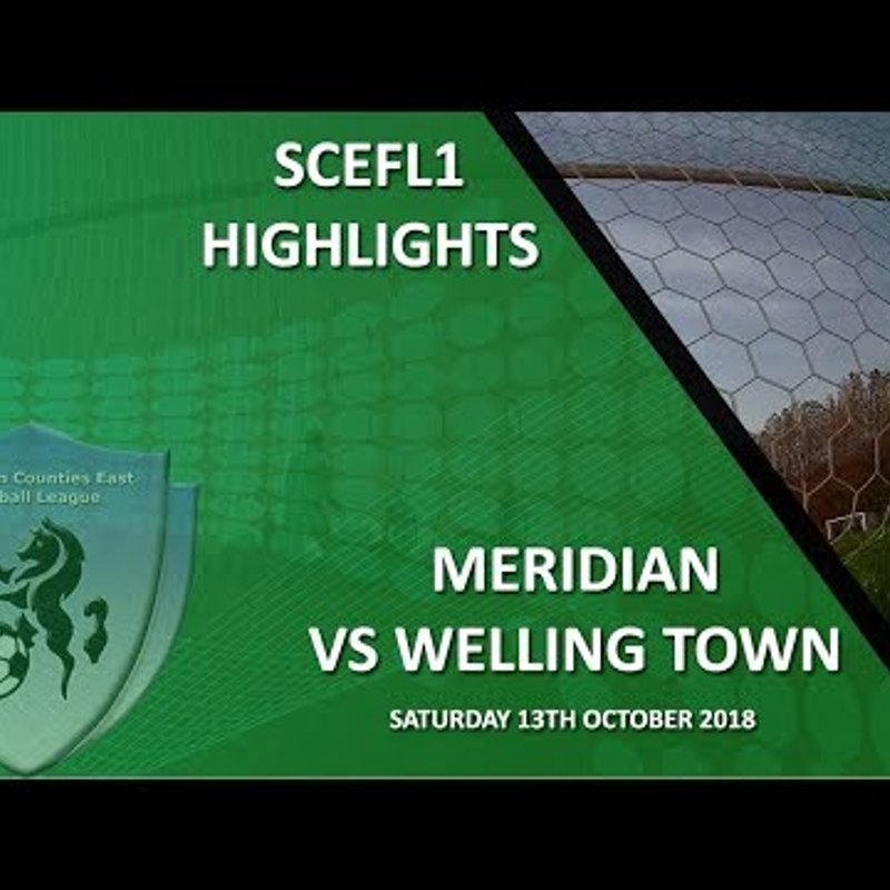 HIGHLIGHTS - Meridian VP 1-1 Welling Town on 13/10/18