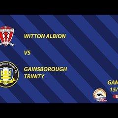 Match Action   Witton Albion vs Gainsborough Trinity   15/09/18