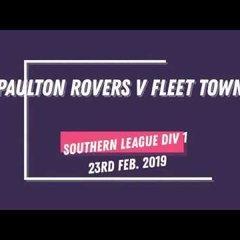 GOALS! PAULTON ROVERS 4-1 FLEET TOWN (23RD FEB 2019)