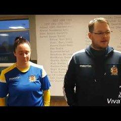 Barry Town Utd Ladies 6-2 Merthyr Town FC Post Match Reaction.