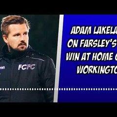 Farsley 2-0 Workington | Adam Lakeland's thoughts