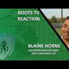 INTERVIEW - First team coach Blaine Horne with his thoughts after Lewisham Borough 1-2 Welling Town