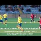 Newmarket Town v Saffron Walden Town. Season 2017-18