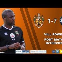 10/07/18 - Vill Powell Post FC Halifax Town