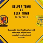 Belper Town 2 - 0 Leek Town 12th April 2016 Highlights