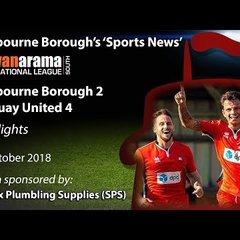 'Sports News': Eastbourne Borough 2 v 4 Torquay United - National League South Highlights