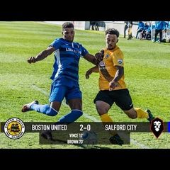 Boston United 2-0 Salford City - National League North 25/03