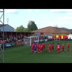 Banbury United players thank supporters