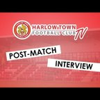 Harlow Town FC vs Merstham post match interview - 03/11/18