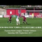 Saffron Walden Town v Felixstowe & Walton United. Season 2017-18